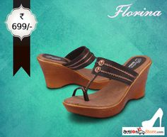 Grab these stylish brown wedges & be the epitome of elegance. See more here