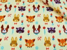 Cotton Fabric, Printed fabric, Quilting Fabric, Animals Fabric,Kids fabric , Childrens fabric Fabrics by the Yard-Half Yard