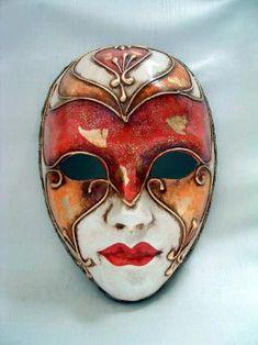 Volto Masks - Handmade Venetian Masks from Venice, Italy - 1001 Venetian Masks Mens Masquerade Mask, Ceramic Mask, Art Costume, Costumes, Carnival Masks, Masks Art, Venetian Masks, Illustrations, Mask Design
