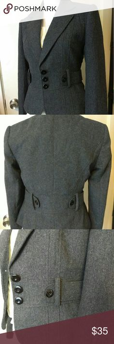 Office business carrier casual Blazer Charcoal black size small size casual dress blazer orsay  Jackets & Coats Blazers
