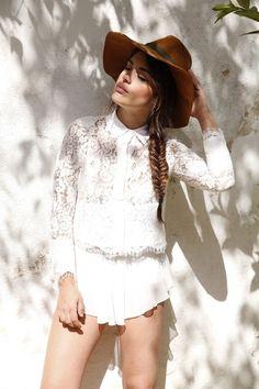 Boho Lace + Hat