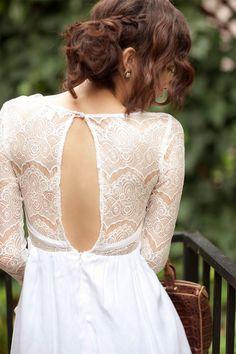 Pretty wedding dress with sleeves  winter wedding