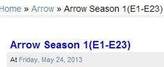 Arrow Season #1 Eps 1-23