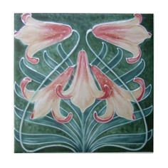 AN012 Art Nouveau Reproduction Antique Tile