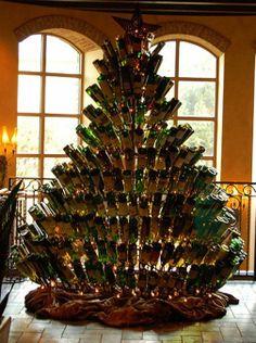 Wine Bottle Christmas Tree (Jacksonville Wine Guide) @Connie Hamon Brzowski Hamon Brzowski Mattingly Mccammon