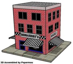 Papermau: 1996`s Ice Cream Shop Paper Model - by Ben & Jerry... http://papermau.blogspot.com/2015/01/1996s-ice-cream-shop-paper-model-by-ben.html