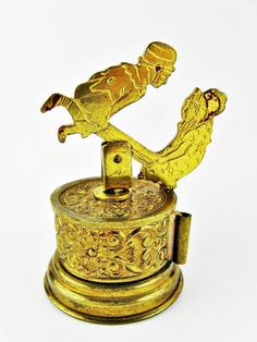 Antique Seesaw Teeter Totter Mechanical Figural Brass Sewing Tape Measure | eBay