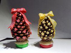Arte em Casa por Rita Candeu: Árvore de Natal com pinha e biscuit