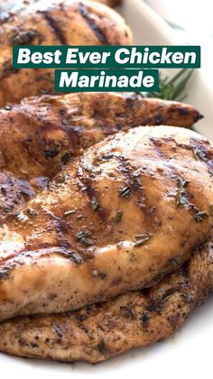 Homemade Chicken Marinade, Grilled Chicken Breast Recipes, Marinated Chicken Recipes, Grilled Bbq Chicken, Chicken Marinades, Chicken Marinade For Grilling, Grilled Chicken Marinade Easy, Chicken On The Grill, Perfect Grilled Chicken