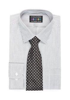Alexander Julian Purple Big  ular-Fit Boxed Dress Shirt and Tie Set