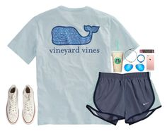 """""""Untitled #444"""" by jazmintorres1 ❤ liked on Polyvore featuring Vineyard Vines, NIKE, Converse, Ray-Ban and Burt's Bees"""