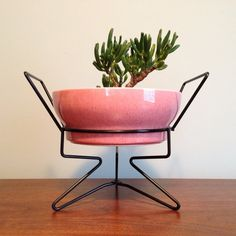 Atomic Planter & Stand