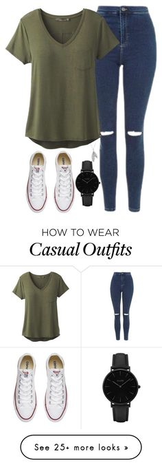 """""""Casual day"""" by lucy-wild on Polyvore featuring Topshop, prAna, Converse, CLUSE and Nina B"""