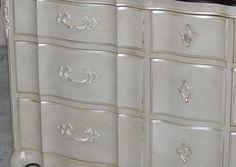 Painted French Provincial Triple Dresser :: Hometalk