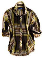 ace373fb053 Georg Roth Los Angeles Saint Petersburg 8021-006 Men s Long Sleeve Plaid  Shirt Tunic Blouse