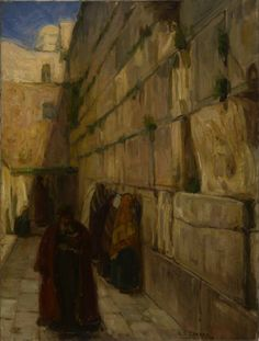 """The Wailing Wall,"" Henry Ossawa Tanner, ca. 1898, oil on canvas; 25 1/2 x 19 1/4"", Rhode Island School of Design Museum."