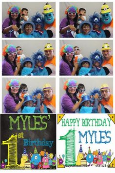 Birthday Party Photo Booth Fun!   Monster Party