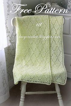 Ravelry: Diamond Stitch Baby Blanket pattern by Olga Poltava