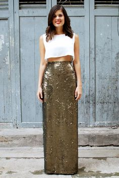 The Most Stylish New Year's Eve Outfits Spotted on Pinterest via @WhoWhatWear