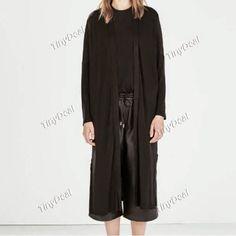 Интернет - магазины : Женская одежда, оригинальный кардиган с длинными р...