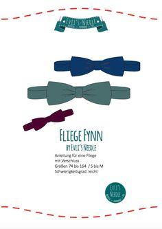"""Ebook Fliege """"FYNN"""" für Babys, Kinder und Erwachsene by EvLi's-Needle Gratis Download, Baby Birthday, Diy And Crafts, Sewing Projects, Tie, Babys, Children, Accessories, Atelier"""