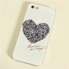 phone cases for iPhone 4s, Phone cases for girls, gift ideas, cute iPhone cases.Exquisite Heart Print Plastic Case for iPhone 4, 4s, 5, 5s, 5c. (Only $7 Via. GirlCrave.com)