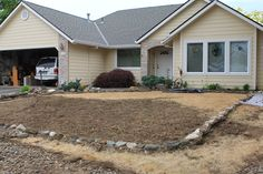 Grass killed and ready for landscape materials.