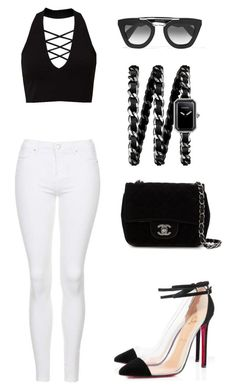 """""""Untitled #399"""" by outfits-by-jahan on Polyvore featuring Miss Selfridge, Topshop, Chanel and Prada"""