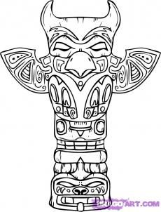 How To Draw A Totem Pole Step 9 Free Printable Coloring