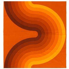 Vintage Verner Panton Kurve Textile in Orange Vi Art Furniture, Diy Furniture Plans, Steel Furniture, Furniture Stores, Urban Furniture, Furniture Removal, Cheap Furniture, Discount Furniture, 70s Aesthetic