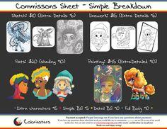 Jan 2017 Comisson Sheet by Colorinstars