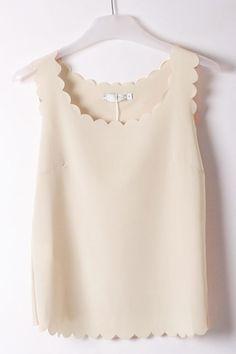 scallop-sleeveless-semi-sheer-chiffon-top