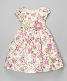 Loving this Lavender Floral Cap-Sleeve Dress - Toddler & Girls on #zulily! #zulilyfinds