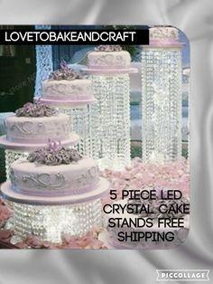 Led wedding cake stand, by lovetobakeandcraft.com wedding-cake-stands-crystal-acrylic-led