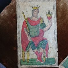 1820 Italy Painted Minchiate Playing Card