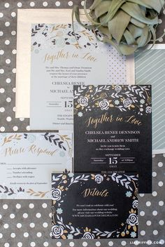 Print your own stunning black and white wedding invitations with these super-stylish designs from handcrafted lifestyle expert Lia Griffith. - Downloaded