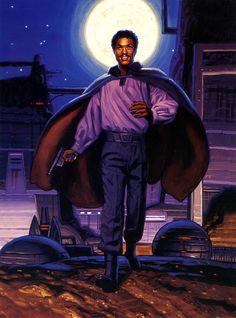 Lando Calrissian: owner of the Tibanna gas plant on Cloud City Star Wars Books, Star Wars Art, Star Art, Sun In Libra, Star Wars Planets, 70s Sci Fi Art, Lando Calrissian, Star Wars Episode Iv, The Empire Strikes Back