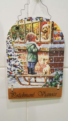 Vianocna tabulka na dvere  Rozmer 20x15 Cena 4,50€+post