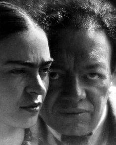 Martin Munkácsi, Frida Kahlo and Diego Rivera, Mexico, 1934.