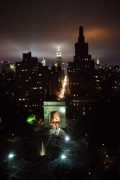 Washington Square Park, Fifth Avenue, and the Empire State Building, as seen from NYU's Kimmel Center