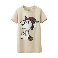 Belle! WOMEN Peanuts Crew Neck Short Sleeve T-Shirt