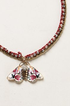 Fluttered Fleur Pendant Necklace - Anthropologie.com