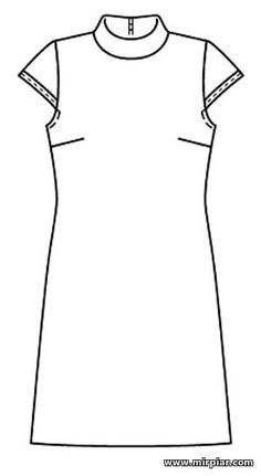 Бесплатно скачать выкройку приталенного платья с