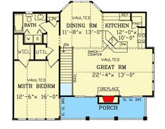 Garage with a Fabulous Guest Apartment Above - 3849JA floor plan - Main Level