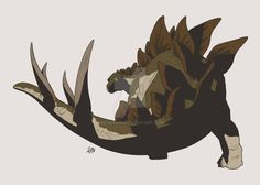 Stegosaurus (The Lost World Jurassic Park) by Michiragi on DeviantArt Jurassic Park Characters, Jurassic Park Poster, Jurassic Park Series, Jurassic World Dinosaurs, Jurassic Park World, Prehistoric Wildlife, Prehistoric Creatures, Dinosaur Photo, Dinosaur Art