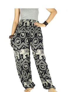 Hippie clothes Gypsy pants  Elephant pants Palazzo by LaOngDaoShop