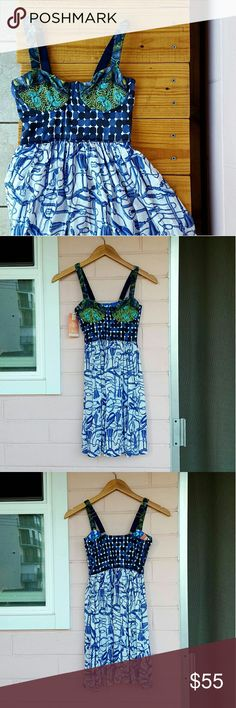 S MAAJI DRESS *adorable print maaji dress *size small *adjustable straps *brand new with tags *perfect for any occasion even a trip to the beach *comes from a smoke-FREE & pet-FREE home Maaji Dresses