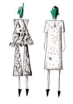 Fashion Sketchbook - fashion illustrations; fashion design drawing; fashion sketch; fashion portfolio // Designer unknown