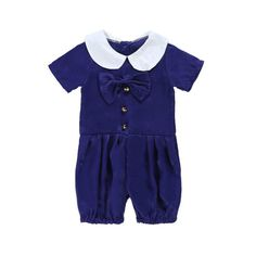 Summer Navy Blue Newborn Baby Girl RomperJumpsuit Outfits Summer Clothes Set 0-4Y #Affiliate