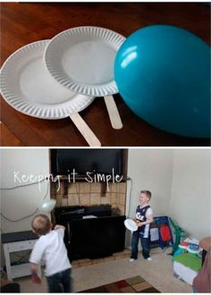 paletas de platos. pelota globo